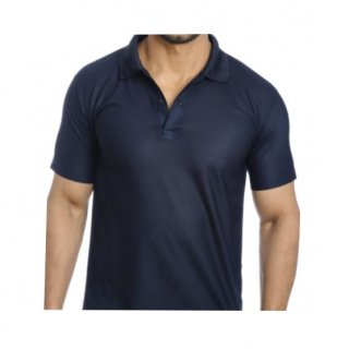Personalized Polo T Shirt (Navy) Polyester Cotton