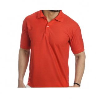 Personalized Polo T Shirt (Red) Polyester Cotton