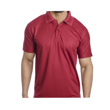Personalized Polo T Shirt (Maroon) Polyester Cotton