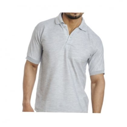 Personalized Polo T Shirt (M.Grey) Polyester Cotton