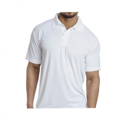 Personalized Polo T Shirt (White) Polyester Cotton