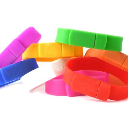 Personalized Wrist Band Pen Drive Rubber (4GB, 8GB, 16GB)