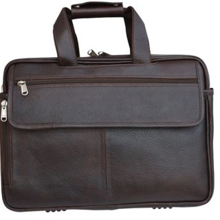Personalized Laptop Cum Office Bag - Genuine Leather
