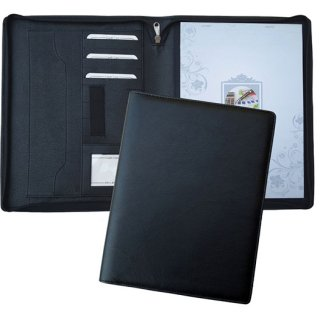 Personalized A 4 Zipper Folder With Pad & Pen