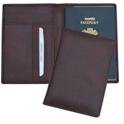 Personalized Passport Cover With Cards Insertion - Leatherette
