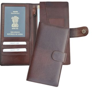 Personalized Passport & Cheque Book Holder - Leatherette