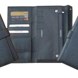 Personalized Passport & Travel Wallet - Genuine Leather