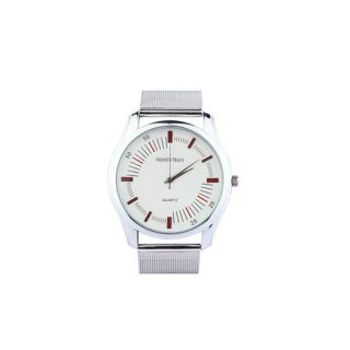 Personalized White/ Red Analog Watch