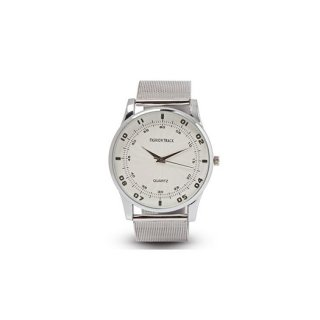 Personalized White/ Silver Analog Watch