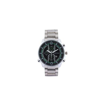Personalized Black/ Silver Analog With Date Watch