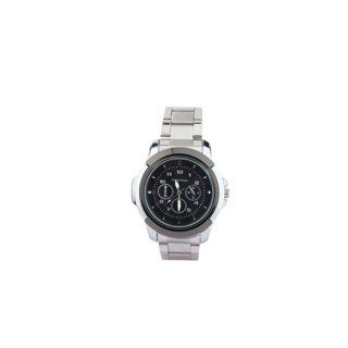 Personalized Black/ Black Analog Watch
