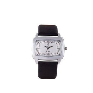 Personalized White/ Black Analog Watch