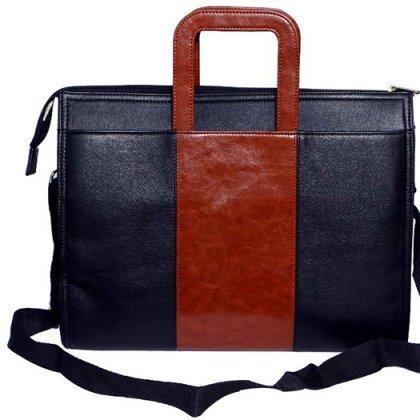 Personalized Laptop/ Portfolio With Brown Strip