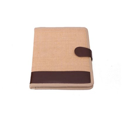Personalized Jute Notebook - Nescafe