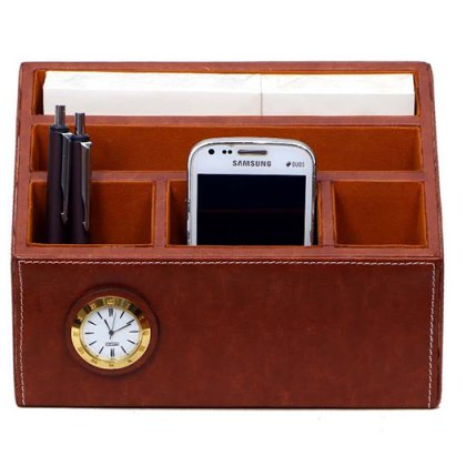 Personalized Pen Stand Taper With Clock