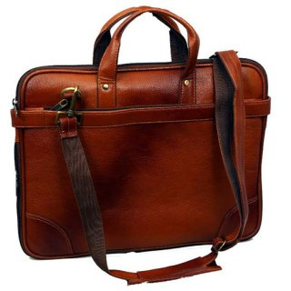 Personalized Laptop Bag With Dual Tone Leather