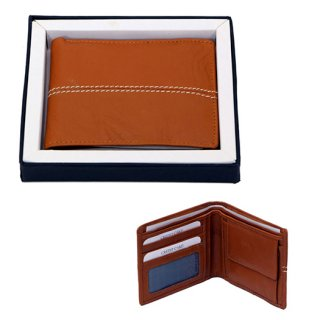 Personalized Gents Wallet - White Stitch