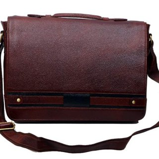 Personalized Laptop Bag - Shaded Leather