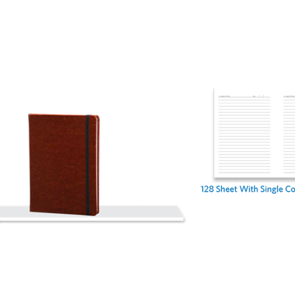 Personalized A - 5 Note Book, S/ C, 128 Sheet