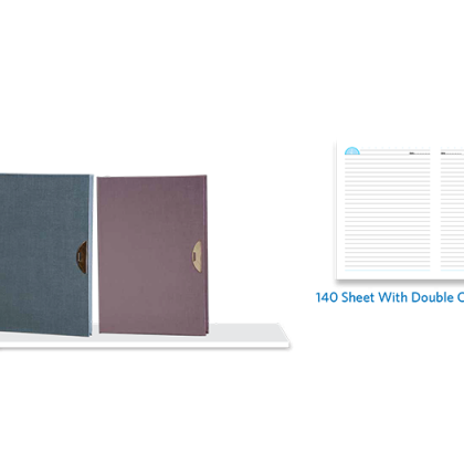 Personalized A - 5 Note Book, D/ C, 140 Sheet With Metal Fitting & Metal Bookmark