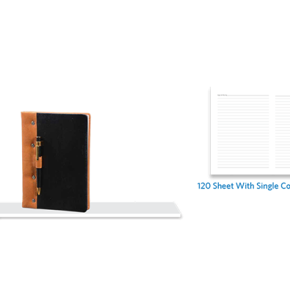 Personalized A - 5 Note Book, S/ C, 120 Sheet With Pen