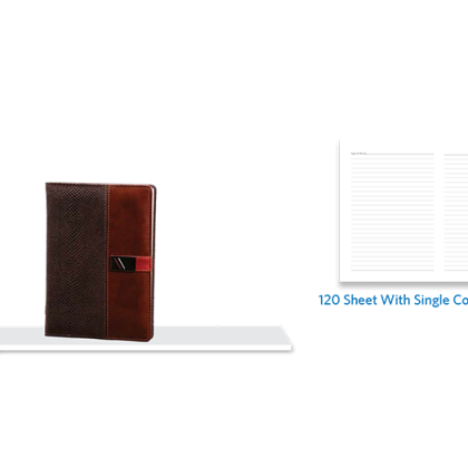 Personalized A - 5 Note Book, S/ C, 120 Sheet With Metal Fitting
