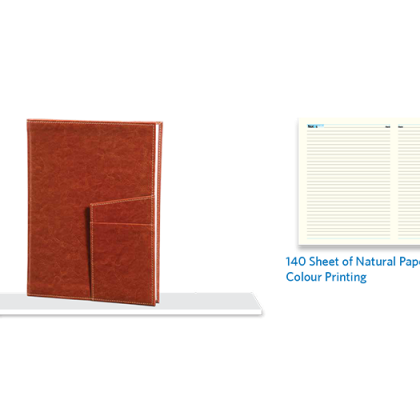 Personalized Nescafe Note Book, D/ C, 140 Sheet (Natural)