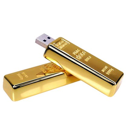 Personalized Metal Gold bar Pendrive