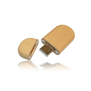Personalized Pen drive Wood Oval