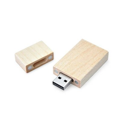 Personalized Wood Rectangular Pen drive