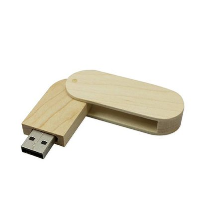Personalized Wood Swivel Pen drive