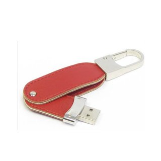 Personalized Leather Swivel Pen drive