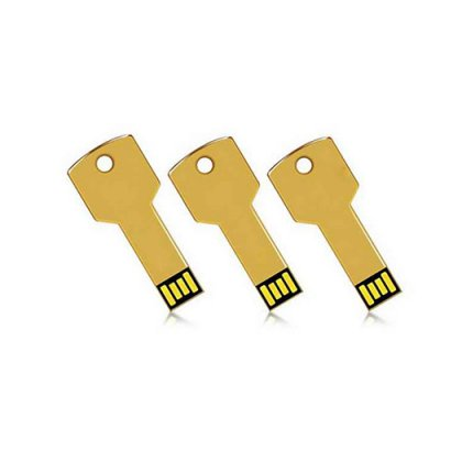 Personalized Metal Key Gold Pendrive