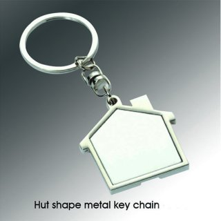 Personalized Hut Shape Metal Key Chain