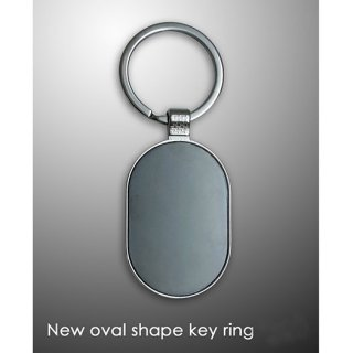 Personalized New Oval Shape Key Ring