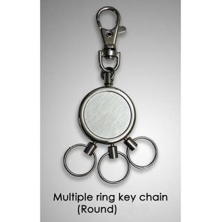 Personalized Multiple Ring Key Chain (Round)