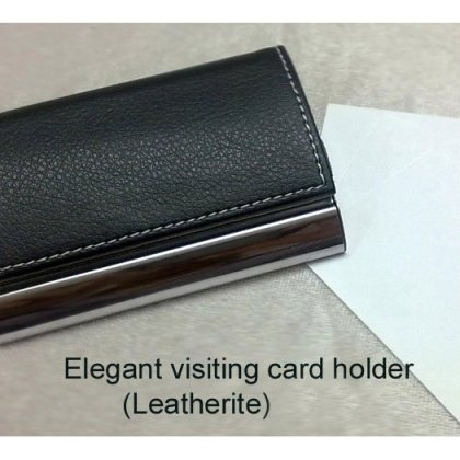 Personalized Elegant Visiting Card Holder - Leatherette