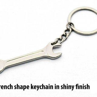 Personalized Wrench Shape Keychian In Shiny Finish