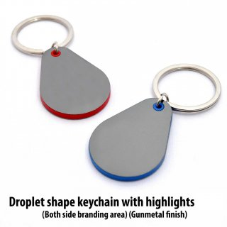 Personalized Droplet Shape Keychain With Highlights