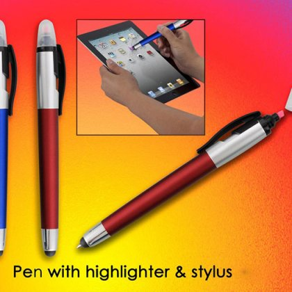 Personalized Pen With Highlighter & Stylus