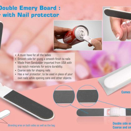 Personalized Folding Double Emery Board : Nail Filer With Nail Protector