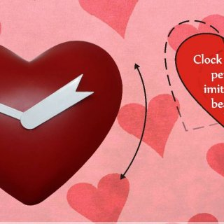 Personalized Heart Shape Pendulum Clock (Exclusive Design)