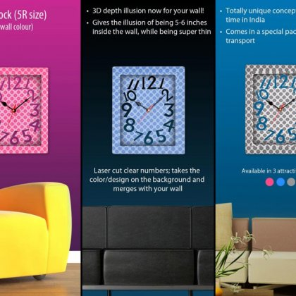 Personalized 3D Wall Clock (5R Size)