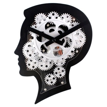 Personalized Wall Clock With Moving Gears