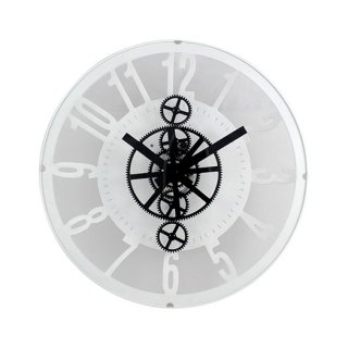 Personalized Classy Concave Clock With Moving Gears (Exclusive)