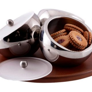 Personalized Revolving Candy Bowl Set of 3 With Lid