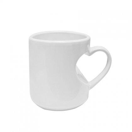 Personalized Heart Shape Handle White Mug