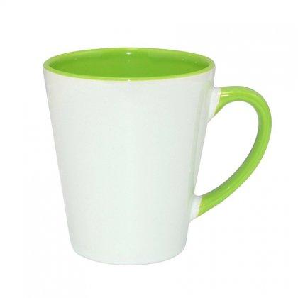 Personalized Inner Rim Color Letter Mug (12Oz)