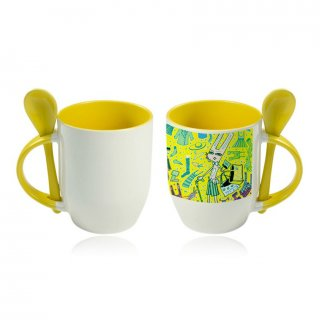 Personalized Color Sublimation Spoon Mug (11Oz)