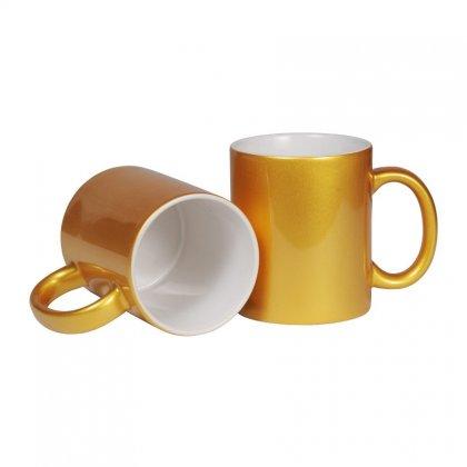 Personalized Bone China Gold Coated Mug